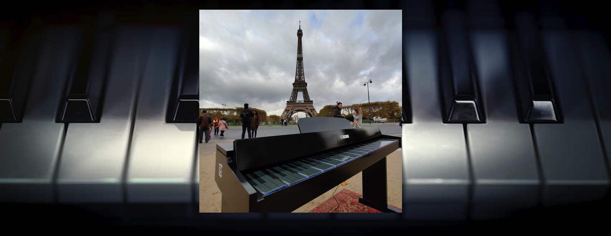 Inédit : un piano dont le clavier est constitué de smartphones
